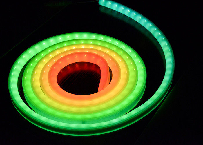 Warm White Digital Neon Flexible Led Strips , Led Neon Lamp Low Voltage